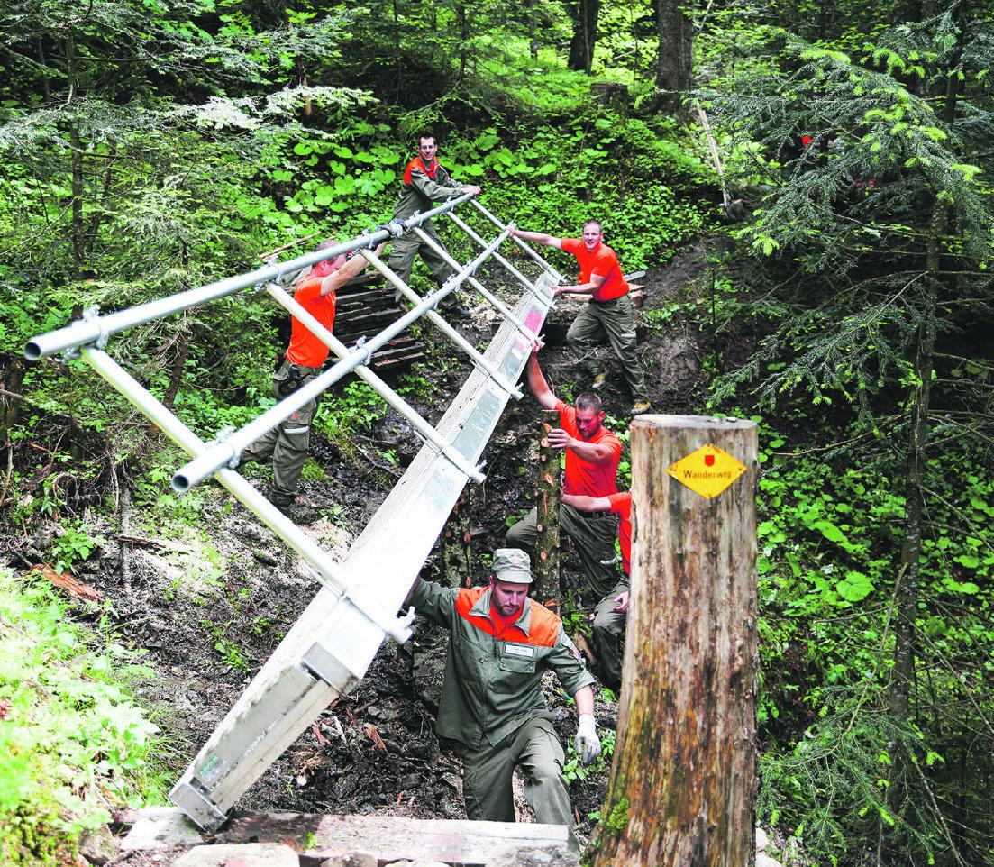 Vier neue Brücken für Rothenthurm