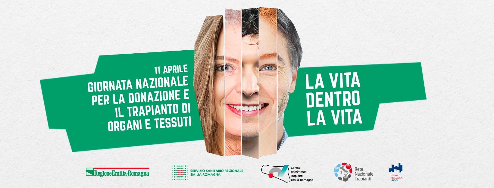 Domenica 11 aprile, Giornata nazionale per la donazione e il trapianto di organi e tessuti