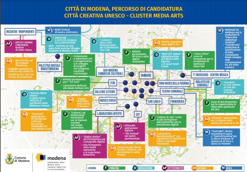 Modena candidata a Città creativa Media Arts Unesco 2021