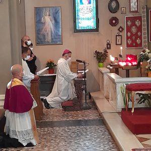 Il vescovo Erio al Santuario di Santa Croce di Carpi