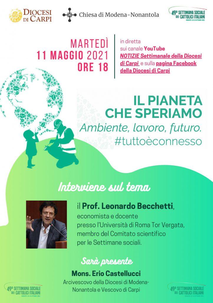 Ambiente, lavoro, futuro: webinar con l'economista Becchetti
