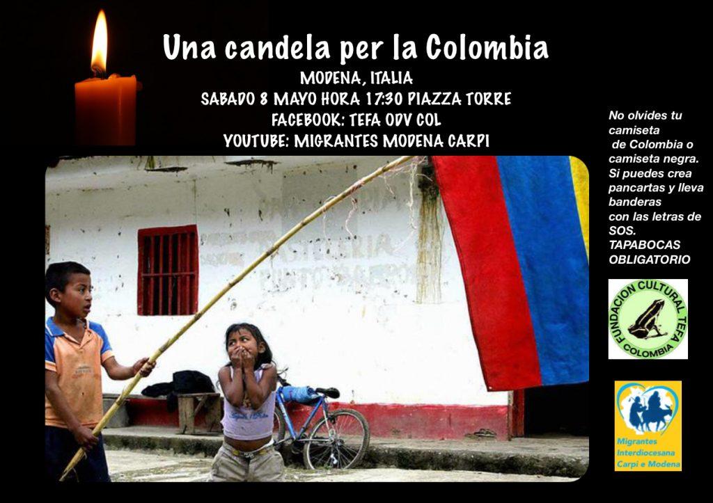 Migrantes Modena-Carpi, una candela per la Colombia