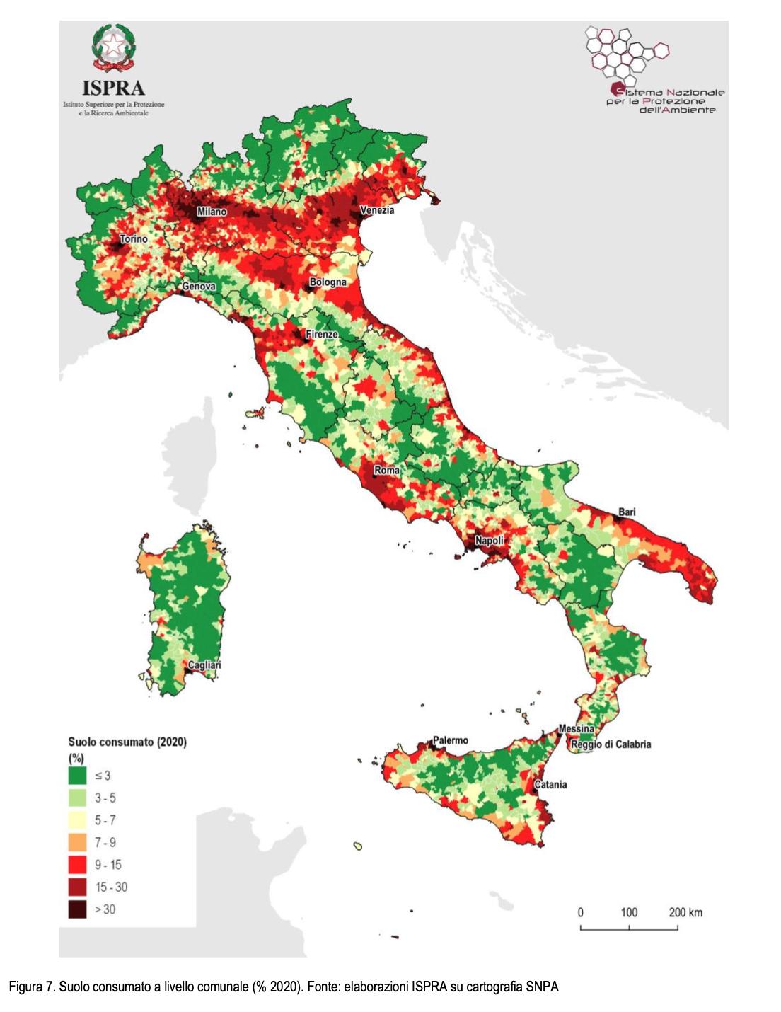 Consumo di suolo: quanto ci costa non agire