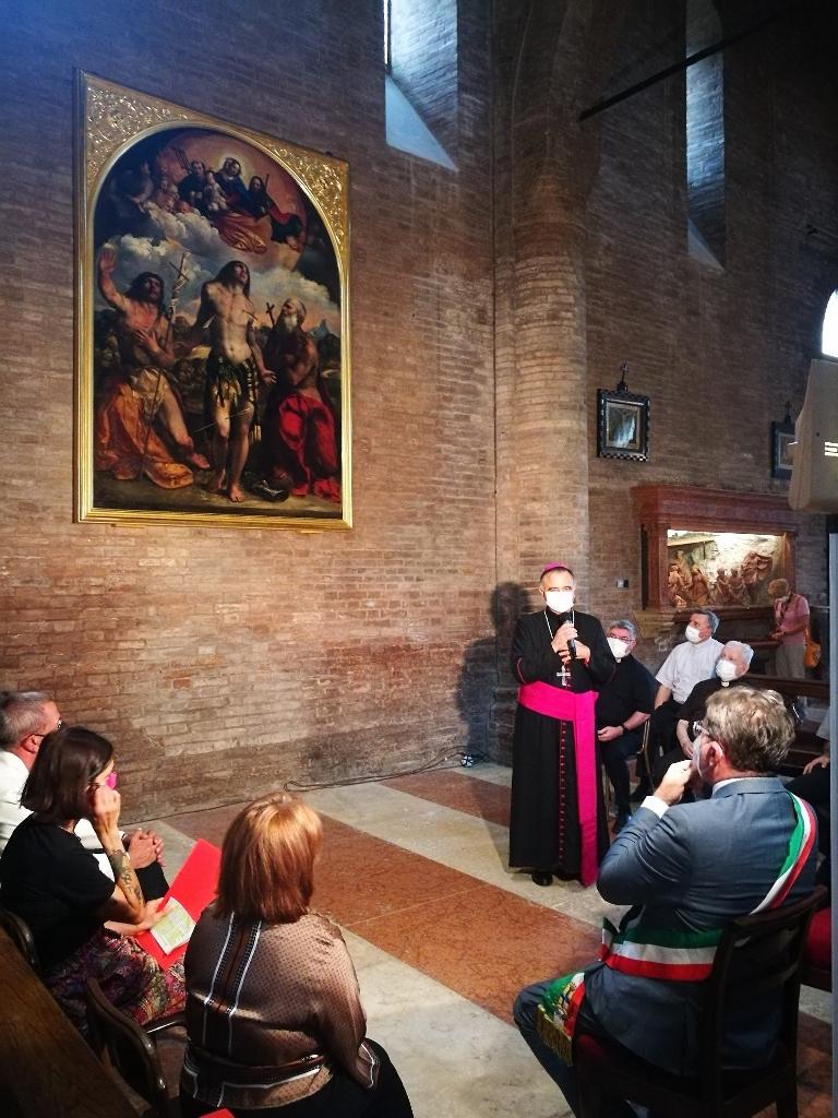 Modena - La pala di San Sebastiano di Dosso Dossi torna in Duomo