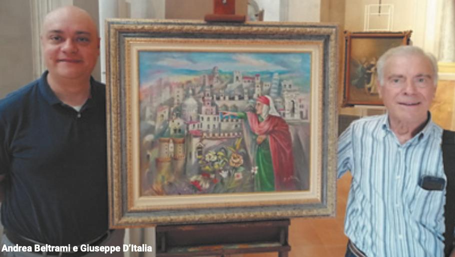 Dante. Dipinto di Giuseppe d'Italia in dono al Museo Diocesano